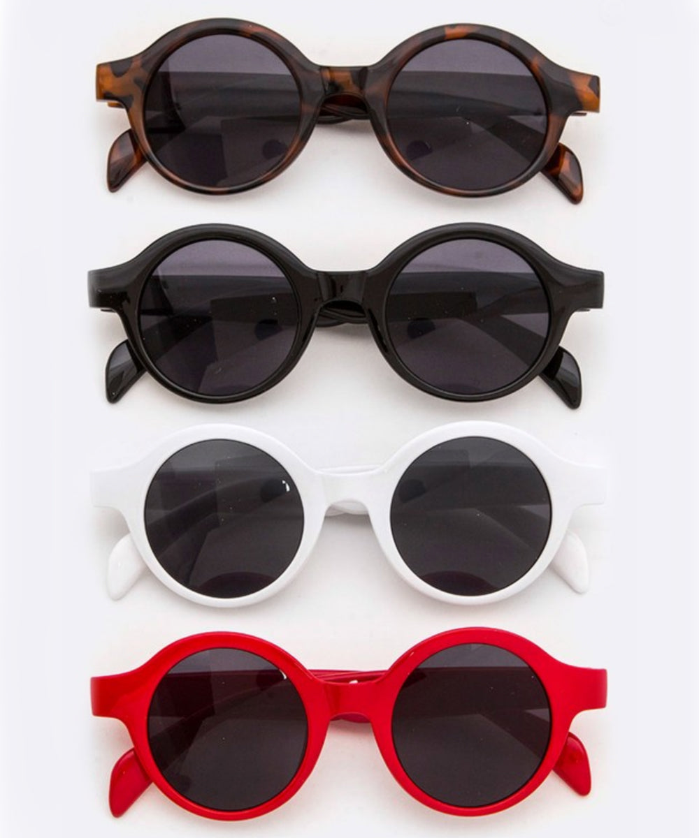 1940s Inspired Retro Round Frame Sunglasses