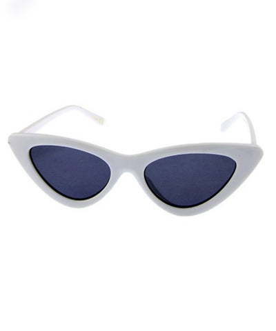 White Classic 1950s Cat Eye Retro Sunglasses