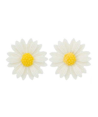 White Sweet Daisy Retro Earrings
