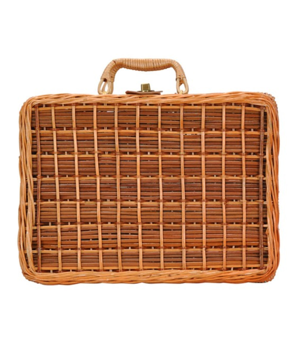 Vintage Inspired Straw Woven Picnic Purse