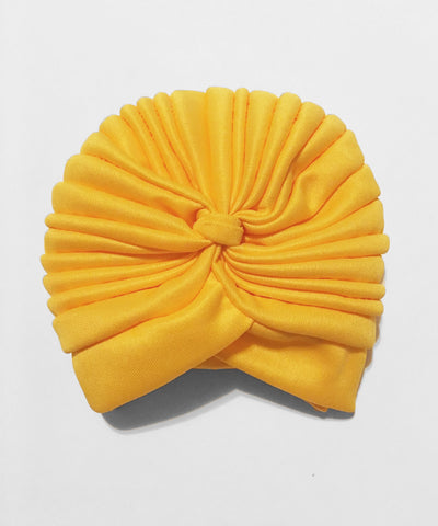 Bright Yellow Stretchy Fitted Vintage Inspired Turban