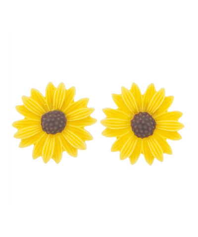 Yellow Sweet Sunflower Retro Earrings