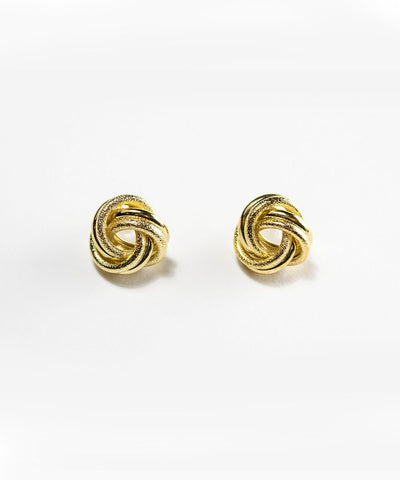 Vintage Inspired Gold Knotted Post Earrings