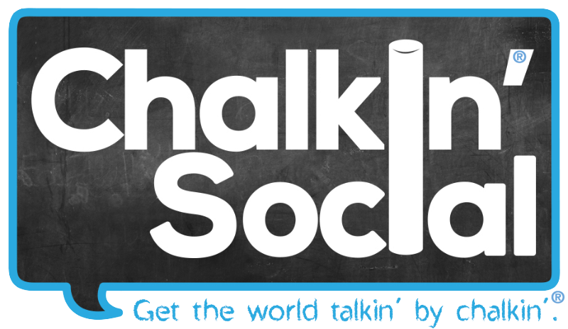 Chalkin' Social logo and slogan with registered trademarks.