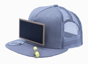 Cool Mesh Gray Chalkboard Hat Side View