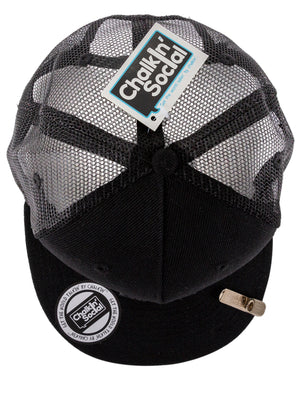 Cool Mesh Black Chalkboard Hat Top View