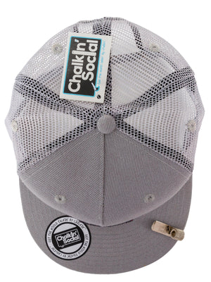 Top view of Social Hipster Gray Chalkboard Hat