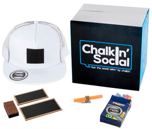 Social Hipster White Chalkboard Hat and accessories
