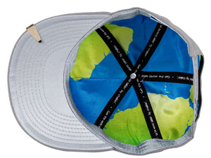 World globe interior of Leadership Adult Chalkboard Hat in gray