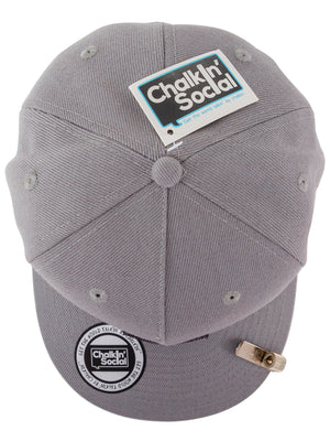 top view of leadership adult chalkboard hat in gray
