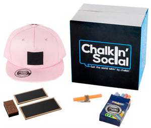 Leadership Adult Chalkboard Hat in pink with included accessories