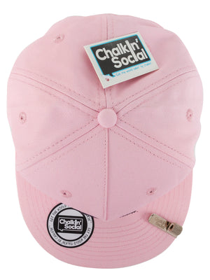 Top view of Leadership Adult Chalkboard hat in pink