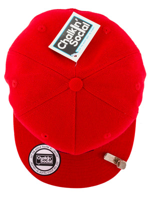 Top view of Leadership Adult Chalkboard hat in red