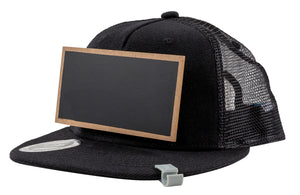 Kids Black Chalkboard Hat side view