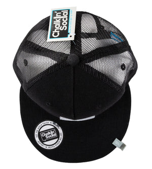 Top view of Expressive Kid Black Chalkboard Hat
