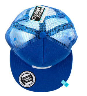 Kids Blue Chalkboard Hat top view