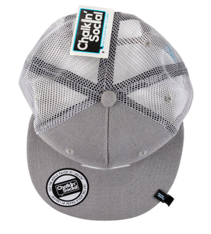 Top view of Expressive Kid Gray Chalkboard Hat