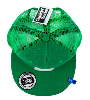 Top view of Expressive Kid Green Chalkboard Hat