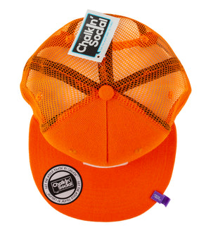 Top view of Expressive Kid Orange Chalkboard Hat