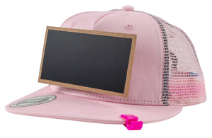 Kids Pink Chalkboard Hat side view