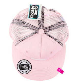 Top view of Expressive Kid Pink Chalkboard Hat