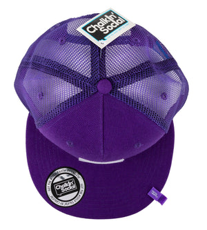 Top view of Expressive Kid Purple Chalkboard Hat