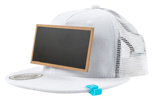 Kids White Chalkboard Hat side view