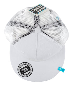 Kids White Chalkboard Hat top view
