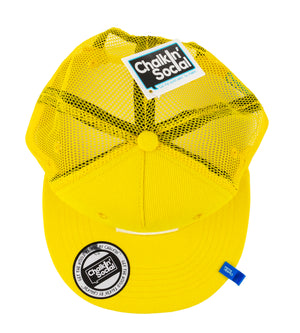Kids Yellow Chalkboard Hat top view