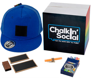 PRIDE Outspoken Blue Chalkboard Hat and accessories