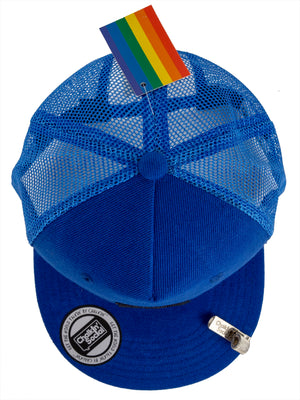 Top view of PRIDE Outspoken Blue Chalkboard Hat