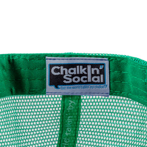 Chalkin' Social tag within PRIDE Outspoken Green Chalkboard Hat