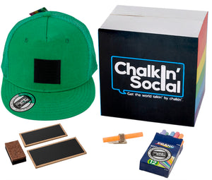 PRIDE Outspoken Green Chalkboard Hat and accessories