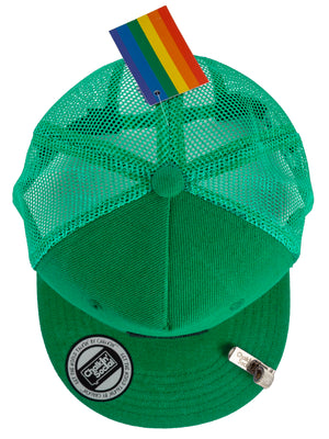Top view of Pride Outspoken Green Chalkboard Hat
