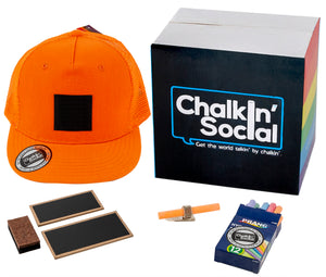 PRIDE Outspoken Orange Chalkboard Hat and accessories
