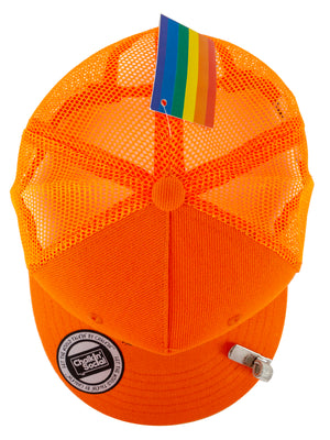 Top view of PRIDE Outspoken Orange Chalkboard Hat