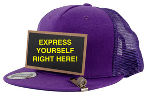 Pride Outspoken Purple Chalkboard Hat