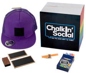 Pride Outspoken Purple Chalkboard Hat and accessories