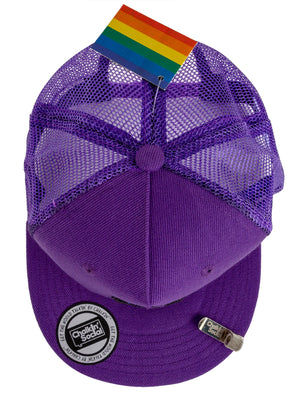 Top view of PRIDE Outspoken Purple Chalkboard Hat