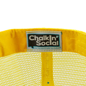 Chalkin' Social tag within PRIDE Outspoken Yellow Chalkboard Hat