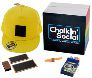 Pride Outspoken Yellow Chalkboard Hat and accessories