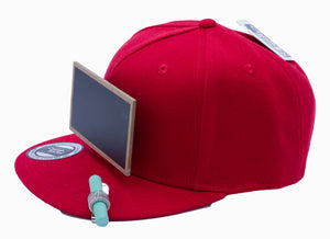 Luxe Red Chalkboard Hat side view
