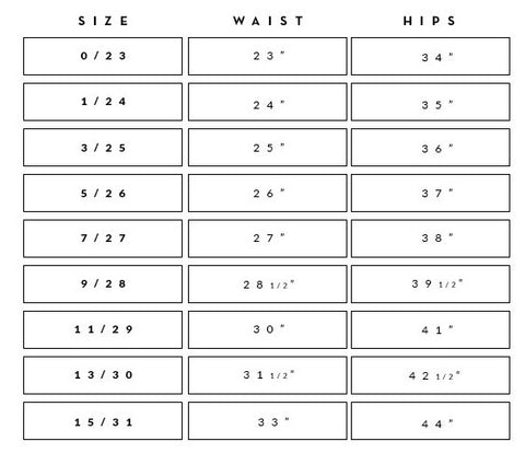 e94131088f2 Kan Can Sizing Reference – Rosie Daze Boutique