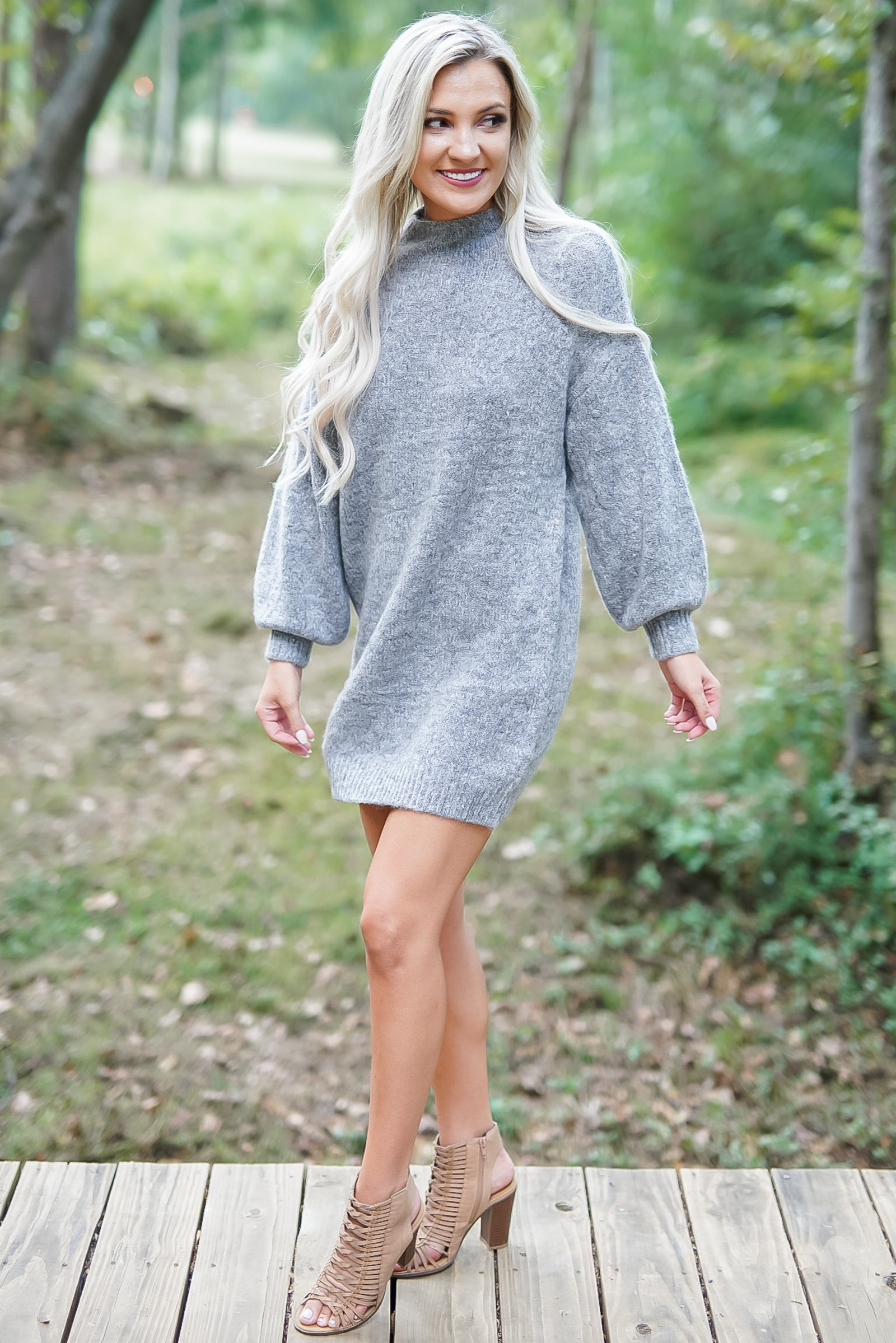Saintly Sweater Dress - Charcoal