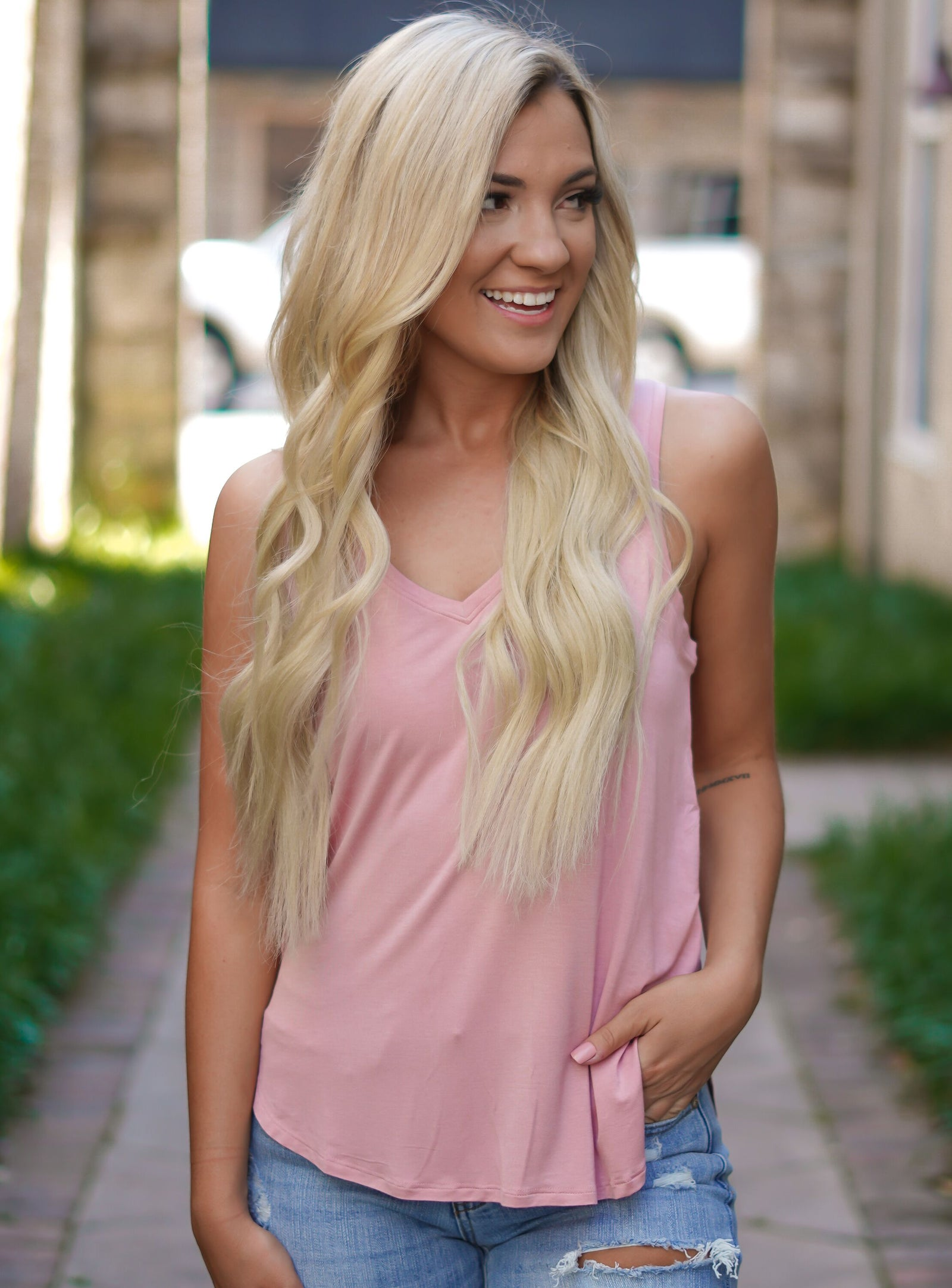 Basic Babe Tank - Rose