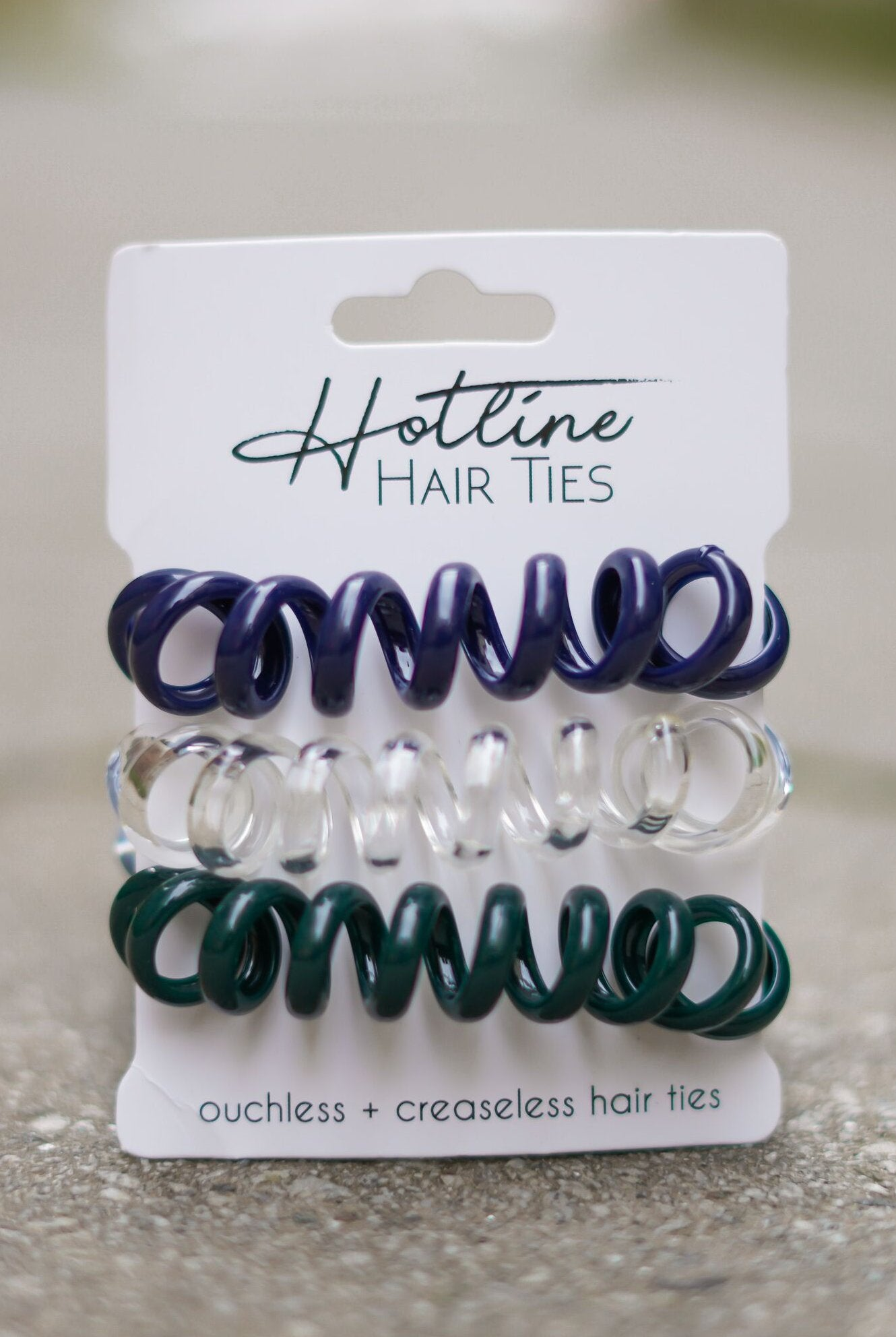 Got Your Back Hair Ties - Evergreen XL Set