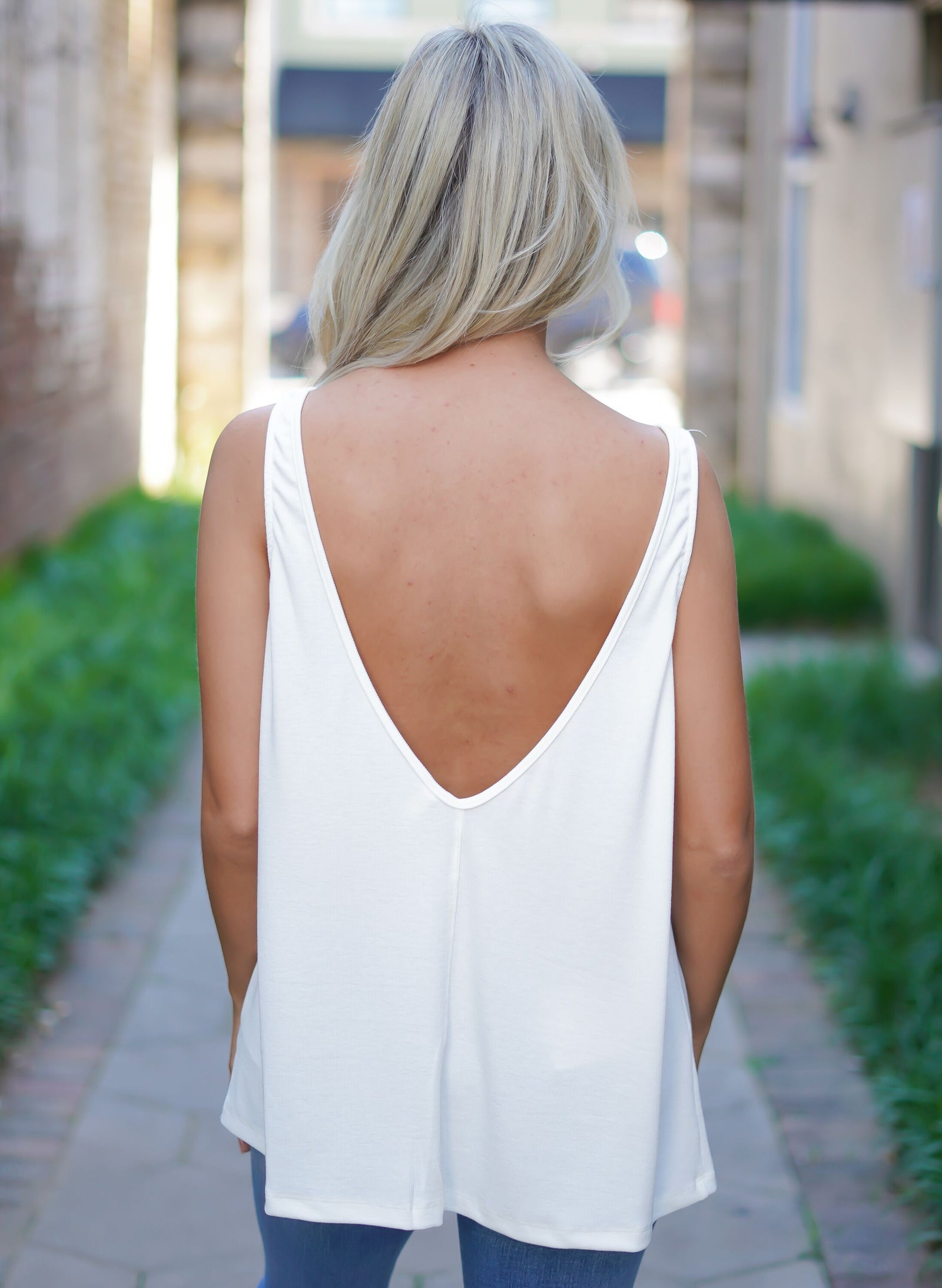 Not So Basic Ribbed Tank - White