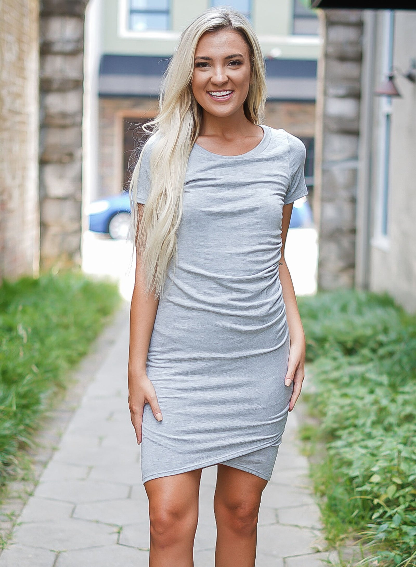 Paradise Knit Dress - Grey