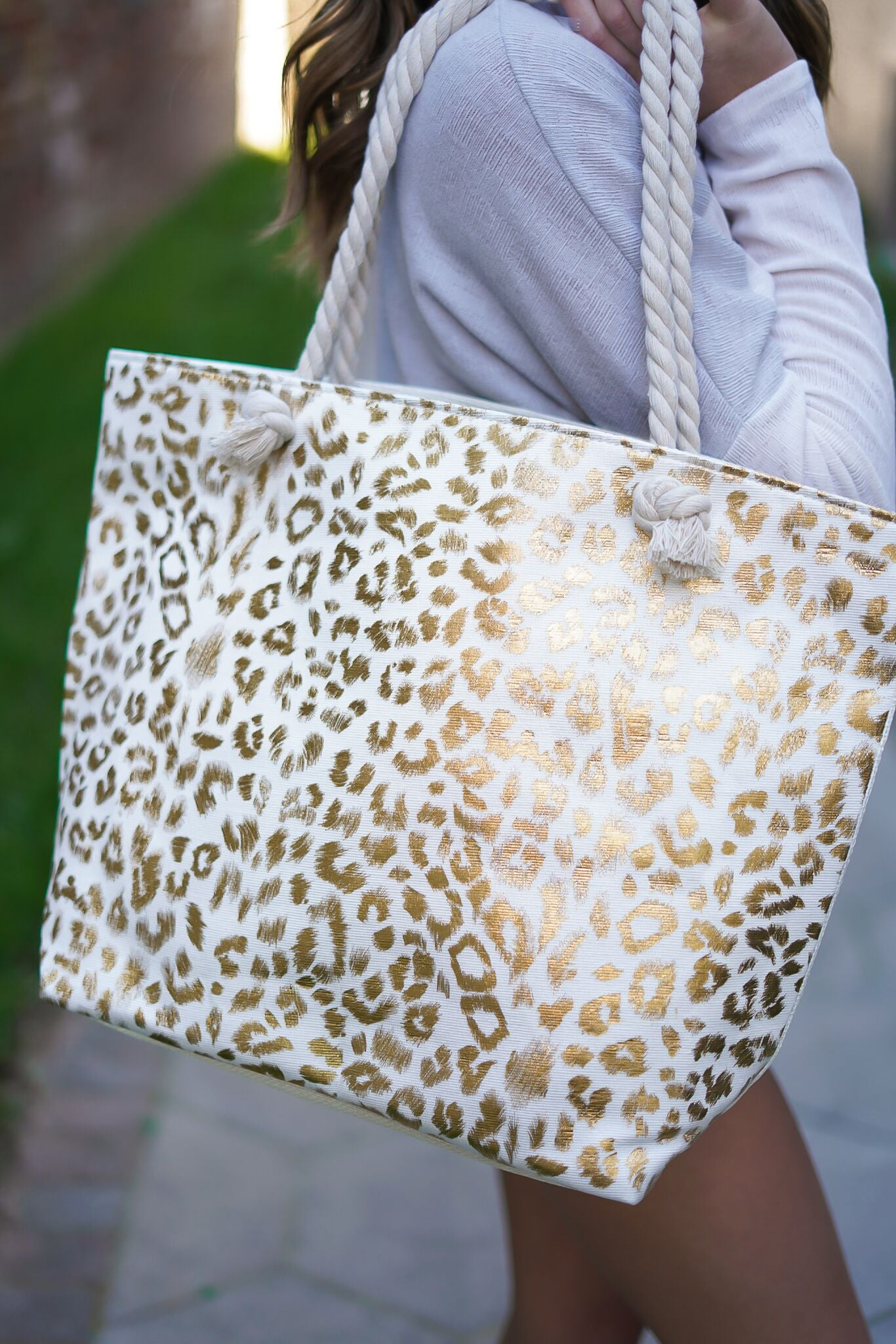 Leopard Beach Bag