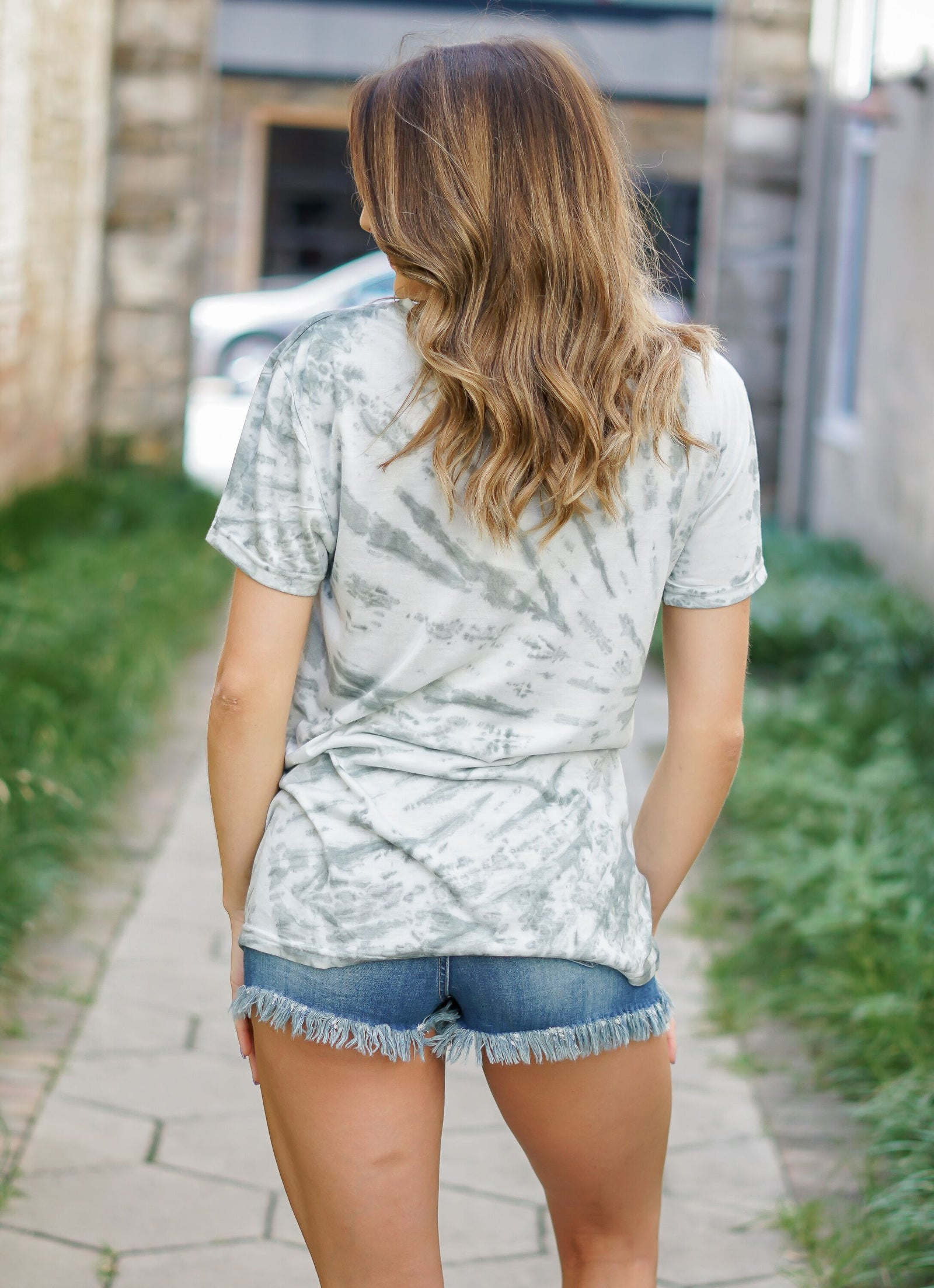 Get Down Tonight Tie Dye Top - Olive